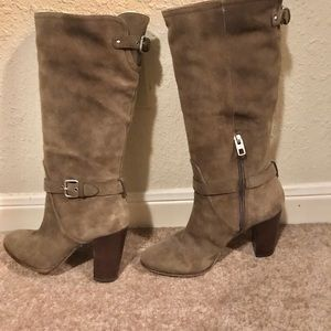 Coach leather suede boots